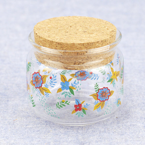 Mini Glass Storage Container with Cork Stopper - square - IZAKKIE Homewares & Gifts  - 1