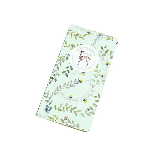 'A Forest Story' Vintage Floral Long List Notebook - IZAKKIE Homewares & Gifts  - 1