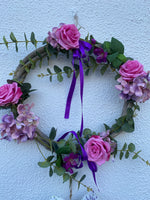 Purple door wreath