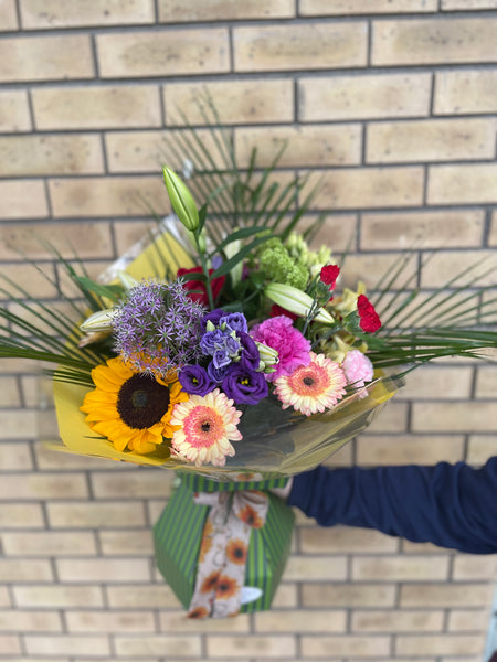 Seasonal Hand Tied Bouquet of Fresh Flowers