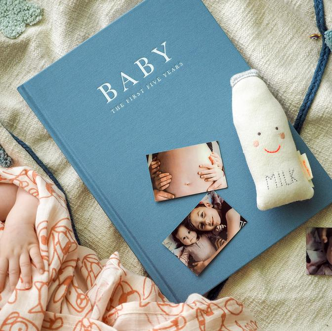 Baby Journal - First Five Years Record Book - (Blue)