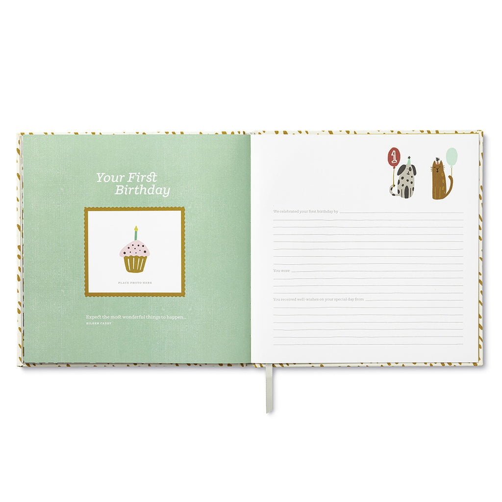 Baby Journal - First Year Baby Keepsake Book (Modern)