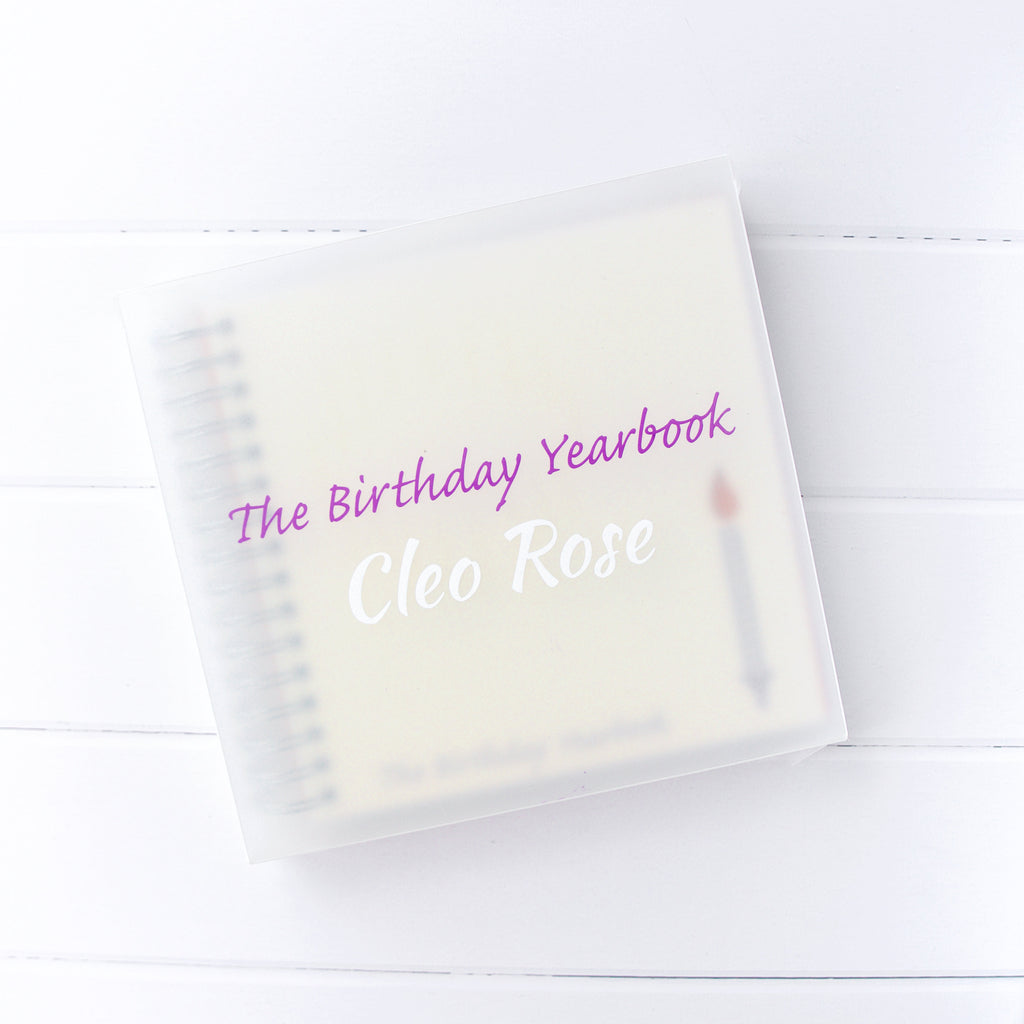 The Birthday Yearbook - My Memory Books