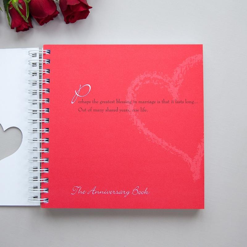 Wedding gift or for the first paper anniversary, to fill with wedding anniversary memories.