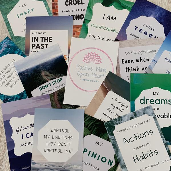 Teen Boys Affirmation cards (12-17 years) - My Memory Books