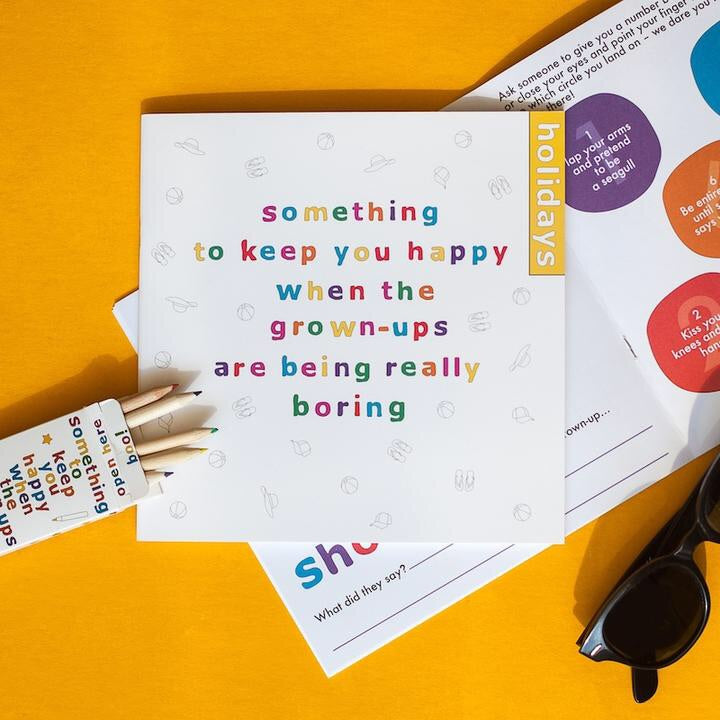 Something to Keep You Happy Book with pencils - Holidays