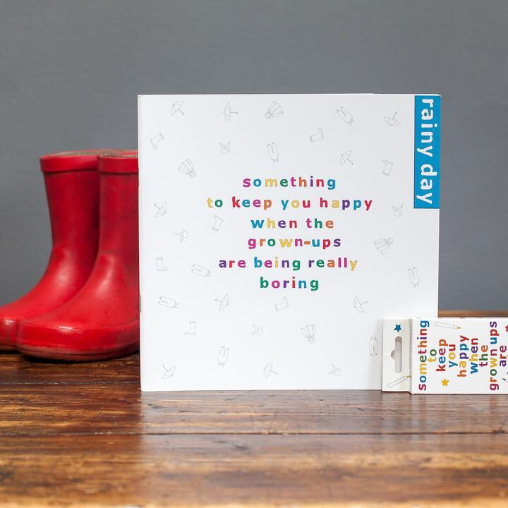 Something to Keep You Happy Book with pencils - Rainy Day