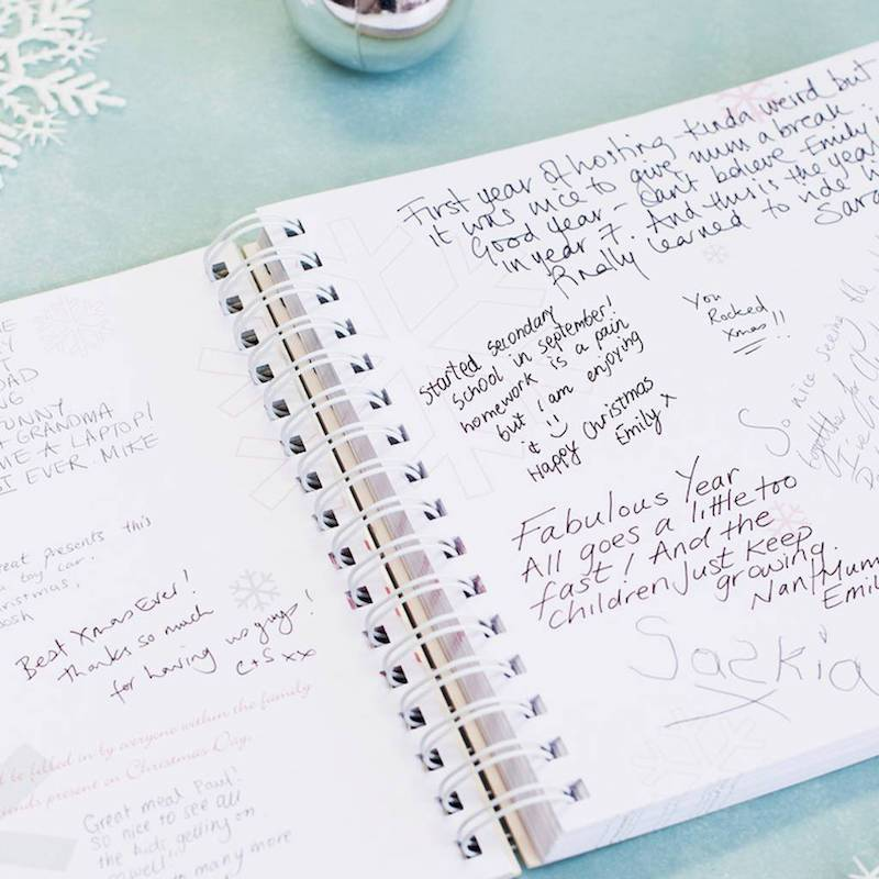 Christmas journal for recording Christmas memories aa a new Christmas tradition. My Memory Books