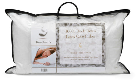 Purley pillows duck down with dunlopillo style latex core