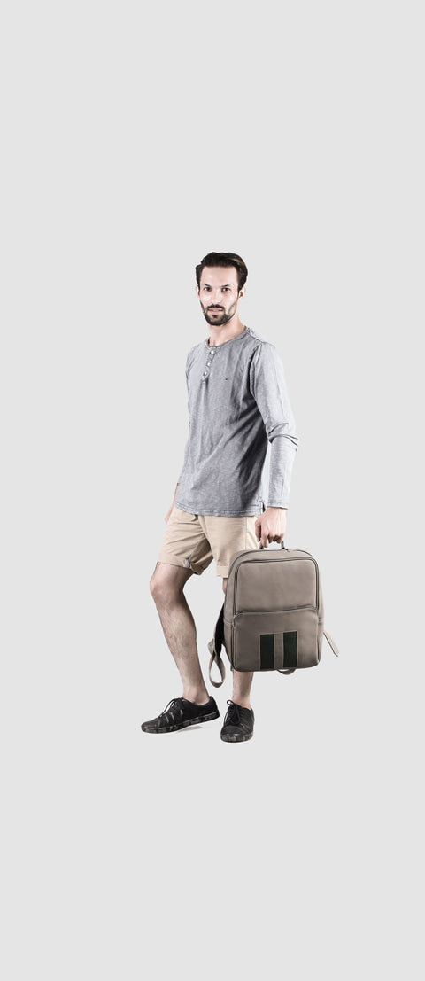 "Bloc 14"" Grey Laptop Backpack"