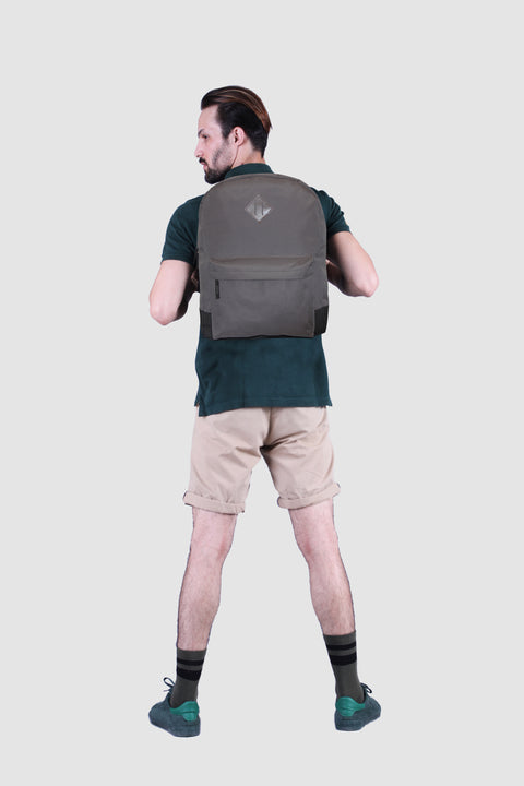 "Prime 17"" Grey Backpack"