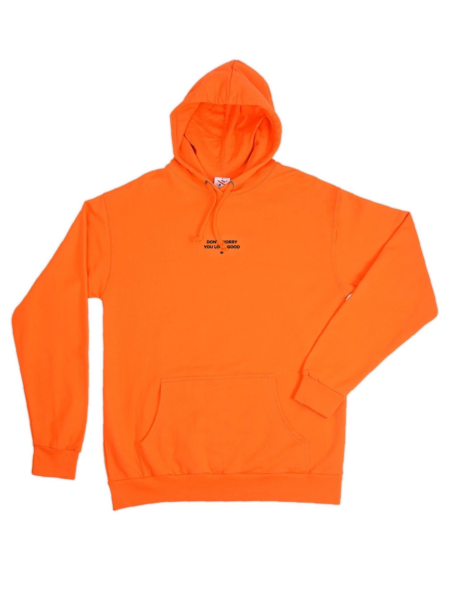 "Hoodie ""you look good"" orange"