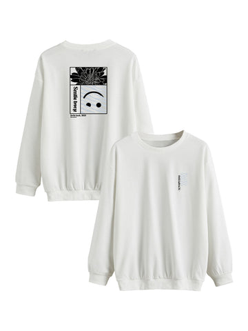 Sweat Smile back rectangle gris