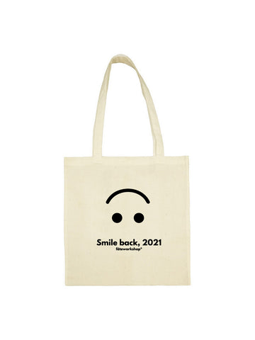 Tote bag smile back beige