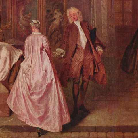 The Two Cousins, by Antoine Watteau (1716)