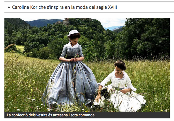 Atelier Serraspina on RAC1, the surprising historical costumes from a French woman who lives in Vall Fosca
