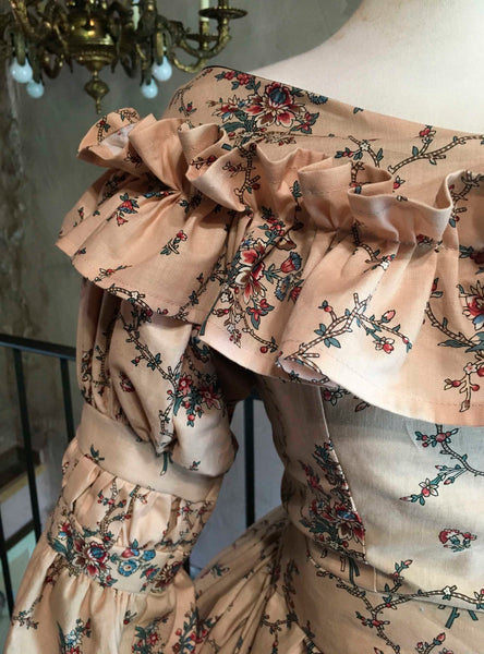 Eugénie, early Victorian dress in Chintz Cotton