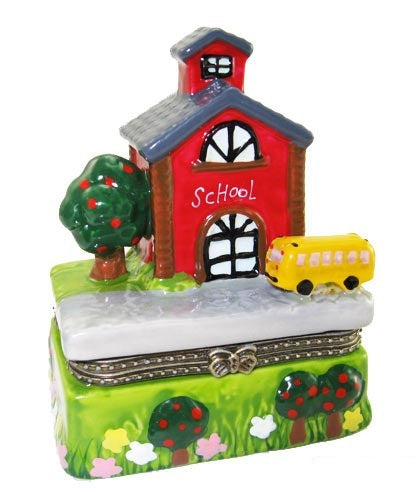 School House and Bus Porcelain Box