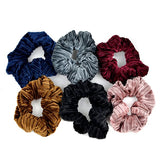 6pc Velvety Scrunchie Hair Ties