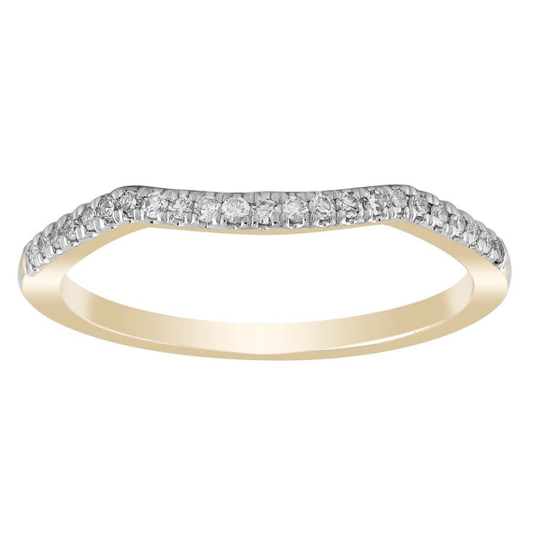 Ring with 0.12ct Diamond in 9K Yellow Gold