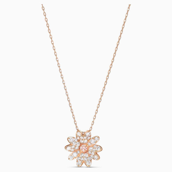 SWAROVSKI - Rose Gold Eternal Flower Pendant - Pink