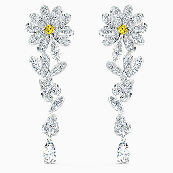 SWAROVSKI - Eternal Flower Pierced Earrings -  Yellow