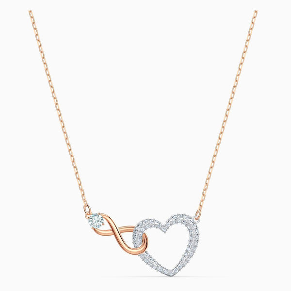 SWAROVSKI - Infinity Heart Necklace - White