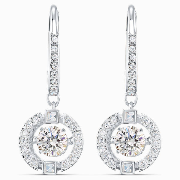 SWAROVSKI - Sparkling Dance Pierced Earrings -  White
