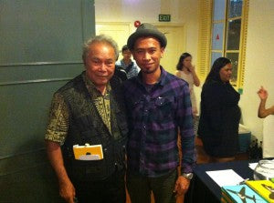 Rock musician and friend Mik meets Singapore literary giant Edwin Thumboo