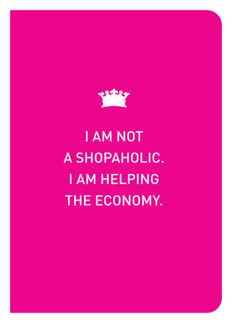 NOT A SHOPAHOLIC