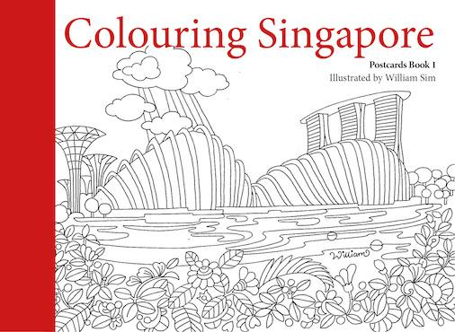 Colouring Singapore Postcards Book 1