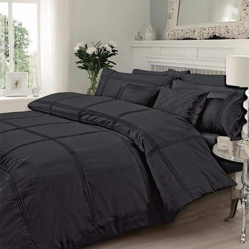 Charcol Pleated Duvet Set