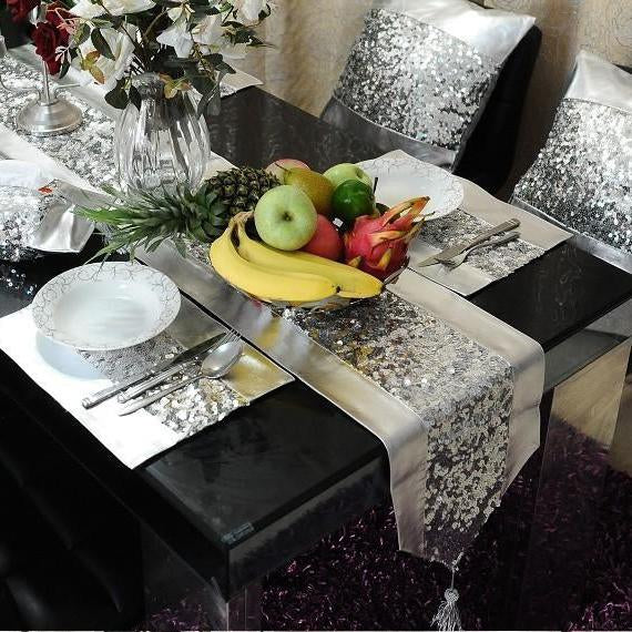 Table Runner (Silver Grey)