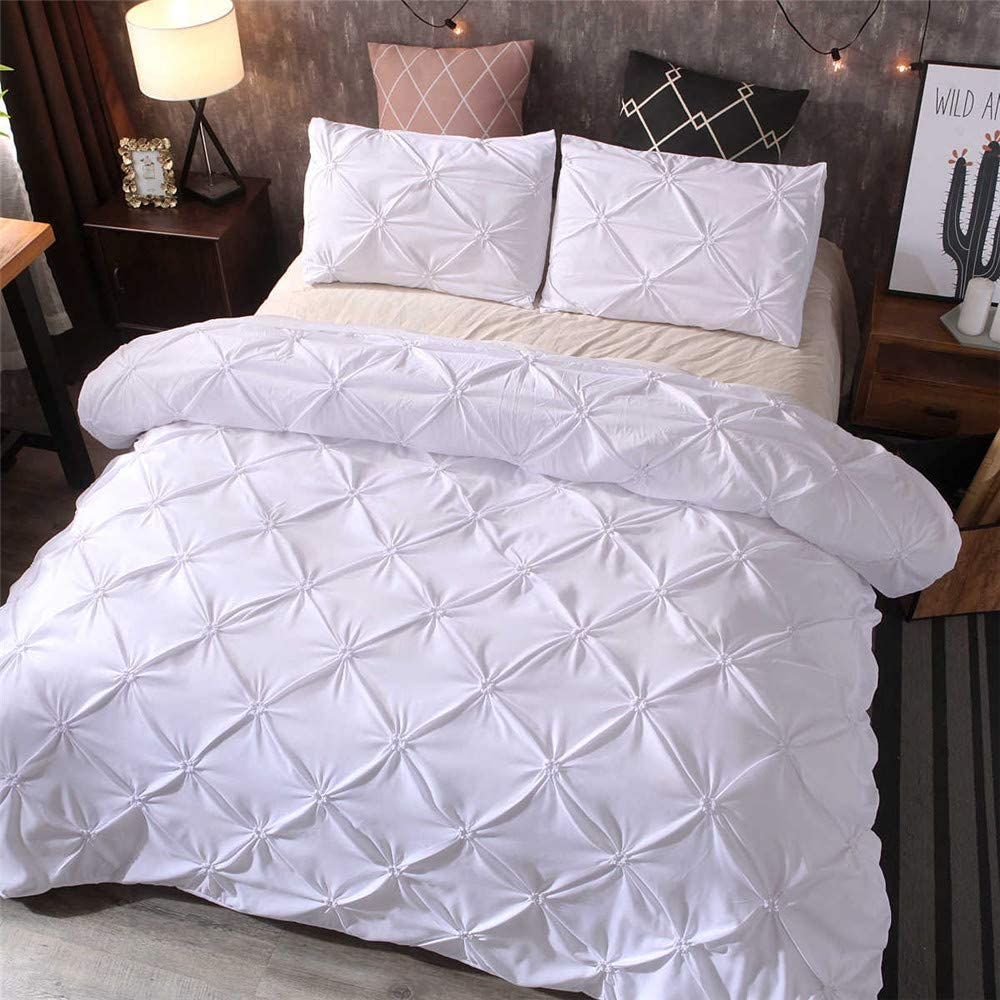 Pintuck Duvet Set (White)