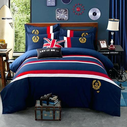 Blue Oxford Duvet Set
