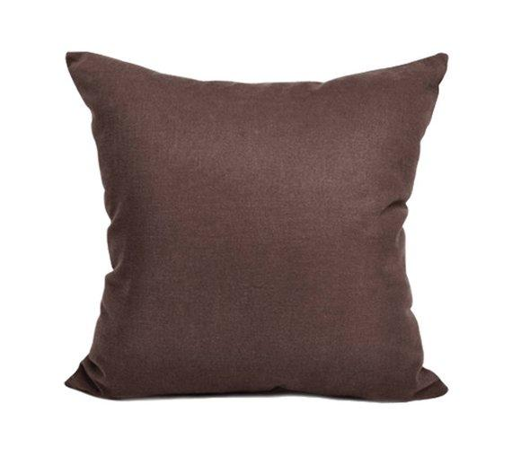 Cotton Cushion Cover (Chocolate Brown)