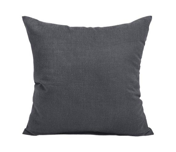 Cotton Cushion Cover (Grey)