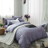 Embroidered Duvet(Grey)