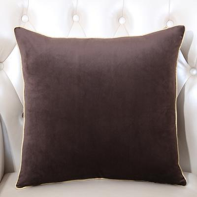 Velvet Cushion Cover (Dark brown)