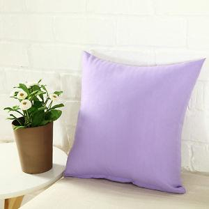 Cotton Cushion Cover  (light Purple)