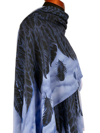 Scarf with angel wings, black Gothic scarf / wrap by Baba Studio