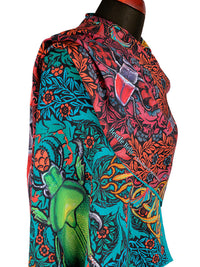 Beetle Belle - Printed viscose scarf, Art Nouveau scarf / wrap by Baba Studio