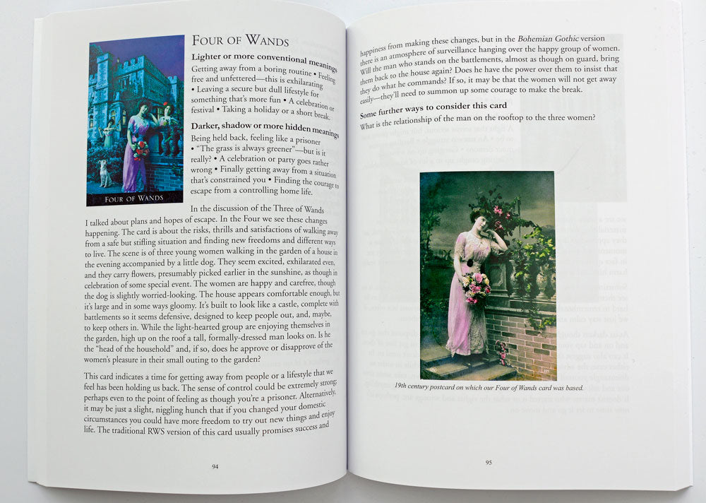 The Bohemian Gothic Tarot companion book.