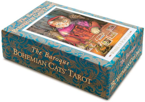 Baroque Bohemian Cats' Tarot third edition. Just a handful of decks available from our own stash.