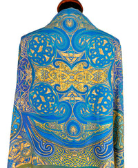 Celtic scarves, printed viscose scarf / wrap by Baba Studio