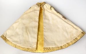 19th century Child of Prague robe with metallic gold work