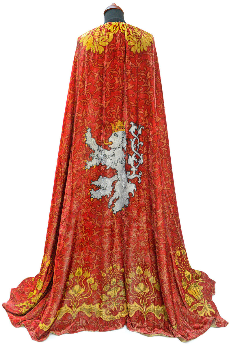 The Bohemian cloak. Art Nouveau patterns with optional Bohemian Lion on the back. Special order only. - Baba Store EU - 2