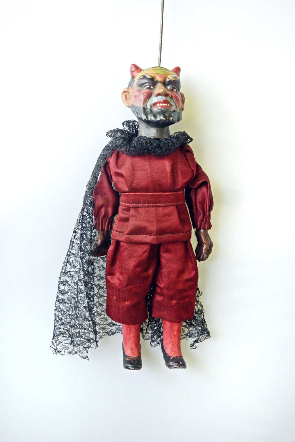 19th century, antique marionette, antique puppet, devil