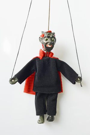 Small vintage devil puppet - cute!