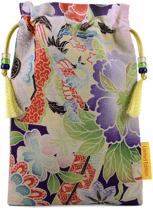 Garden of Paradise — limited edition with vintage Japanese kimono pure silk